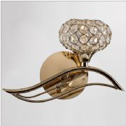 Leimo Wall Light in French Gold and Crystal, Switched - DIYAS IL30961/R